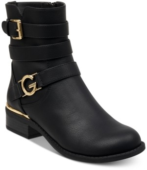 Gbg Los Angeles Women's Harlin Round Toe Stacked Heel Boot Women's Shoes