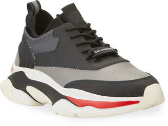 Karl Lagerfeld Paris Men's Lace-Up Leather Dad Sneakers