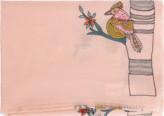 Janavi India Embroidered Bird Scarf