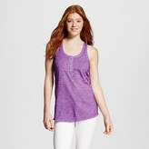Mossimo Women's Henley Loose Tank Solid Supply Co.TM (Juniors')