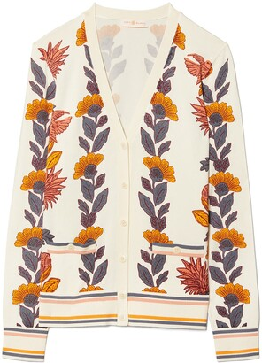 Tory Burch Madeline Floral Cardigan