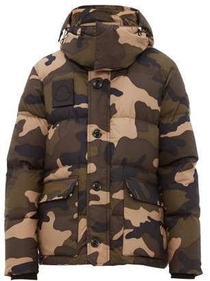 Moncler Dary Camouflage Down-filled Cotton Jacket - Khaki Multi