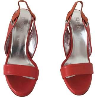 DKNY Orange Leather Sandals