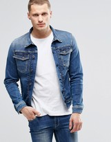 Pepe Jeans Pepe Rooster Slim Denim Jacket S62 Stretch Mid Wash
