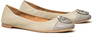 Tory Burch Minnie Patent Cap-Toe Ballet Flat