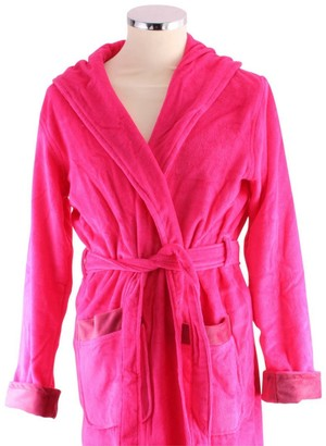 Bown of London Womens Fuchsia Berry Luxury Long Dressing Gown - Pink - Small
