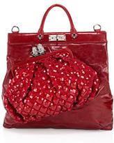 Collection Bag-on-Bag Leather and Sequin Robert Tote