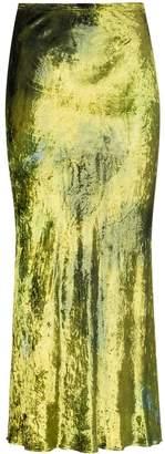 Collina Strada velvet tie-dye midi skirt