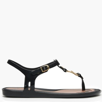 Vivienne Westwood x Melissa Solar Orb Black Toe Post Sandals
