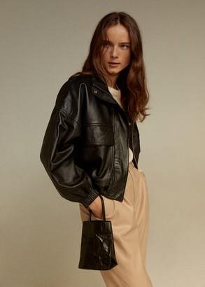 MANGO Wrinkled effect bag nude - One size - Women