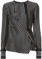 Yigal Azrouel striped wrap blouse
