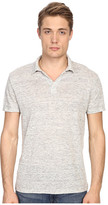 Vince Linen Jersey Short Sleeve Polo
