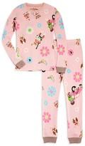 PJ Salvage Girls' Monkey Thermal Ski Pajamas - Sizes 8-14