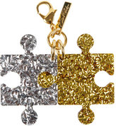 Edie Parker Glittered Resin Puzzle Charm, Multi