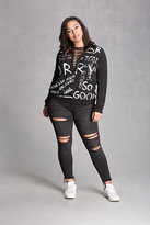 Forever 21 FOREVER 21+ Plus Size Distressed Jeans