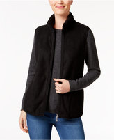 Karen Scott Reversible Fleece-Lined Vest, Only at Macy's