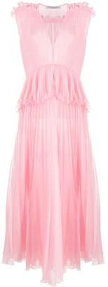 Philosophy di Lorenzo Serafini Sleeveless Pleated Maxi Dress