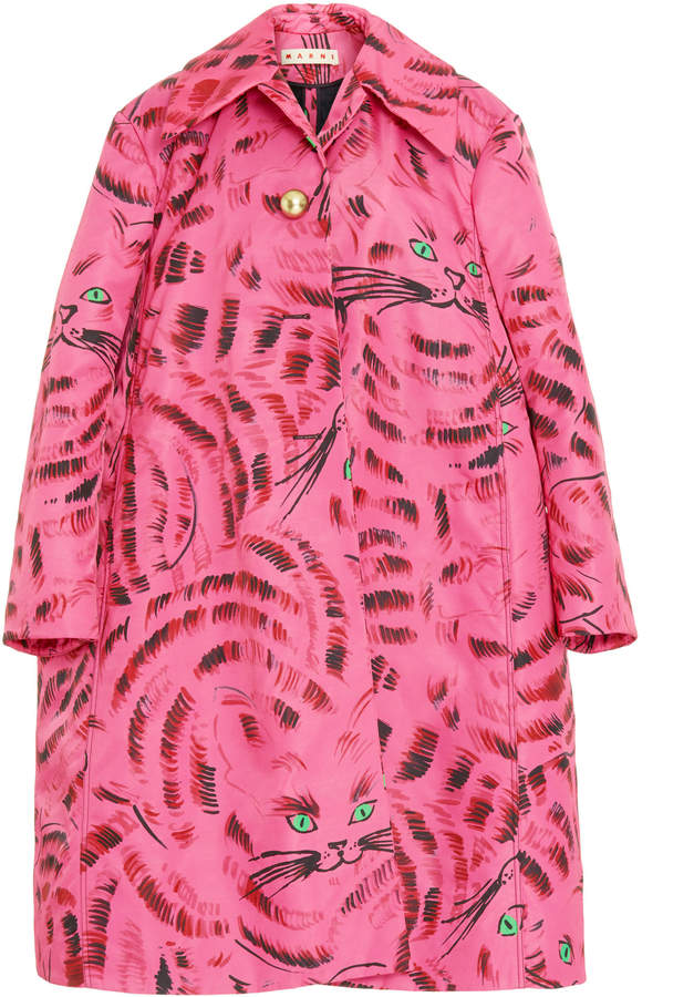 Marni Hop Oversized Twill Midi Coat