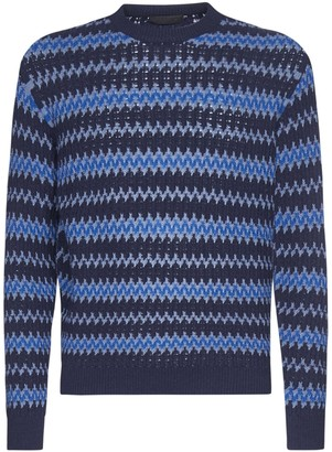 Prada Wool And Cashmere Jacquard Sweater