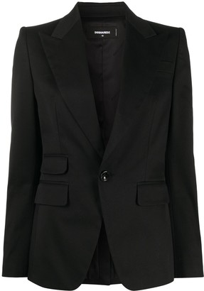 DSQUARED2 Fitted One Button Blazer