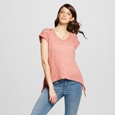 Almost Famous Women's Crochet Shoulder Swing T-Shirt Juniors')