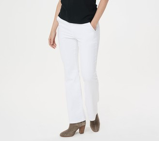 BROOKE SHIELDS Timeless Petite Flare Jeans -White