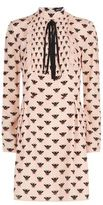 Markus Lupfer Penny Bee Print Silk Dress