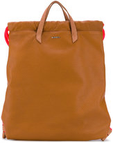 Diesel handle applique backpack - women - Calf Leather - One Size