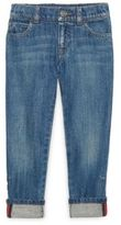 Gucci Little Boy's & Boy's Web-Trim Cuffed Jeans