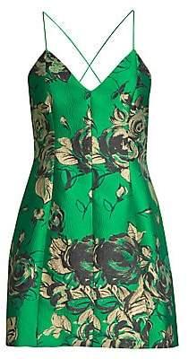 Alice + Olivia Women's Tayla Floral Sleeveless Dress