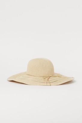H&M Shimmery Straw Hat