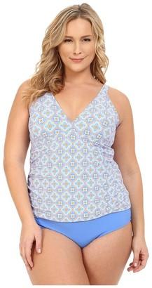 Athena Women's Plus-Size Santorini Halter Tankini
