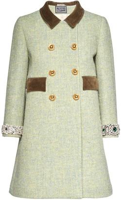 Miu Miu Embellished-Detail Double-Breasted Coat