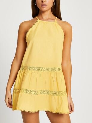 River Island Mini Swing Dress - Yellow