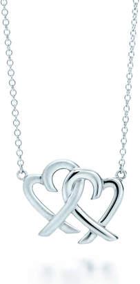 Tiffany & Co. Paloma Picasso Loving Heart interlocking pendant in sterling silver