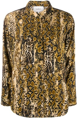 BA&SH Susi snakeprint shirt