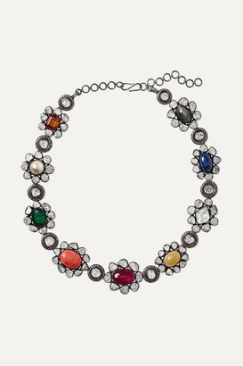 Amrapali 14-karat Gold Multi-stone Necklace - White gold