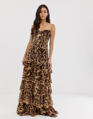 Bronx And Banco & Banco Amazon animal maxi dress-Brown