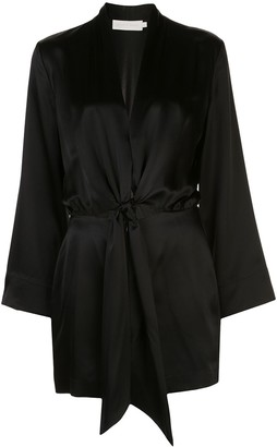 Mason by Michelle Mason Kimono Tie Mini Dress