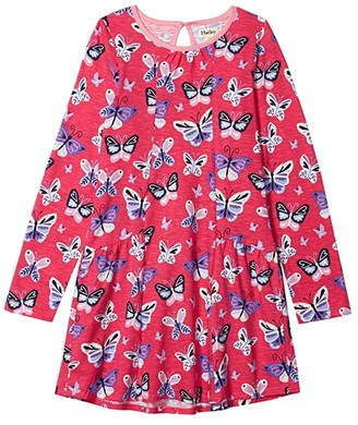 Hatley Butterfly Menagerie Flounce Dress (Toddler/Little Kids/Big Kids) (Pink) Girl's Clothing