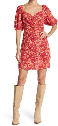 Lucy Paris Laurie Puff Sleeve Mini Dress
