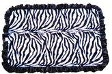 Patricia Ann Designs Satin Ruffles Zebra Swirl Indulgence Blanket, Hot Pink/Black by