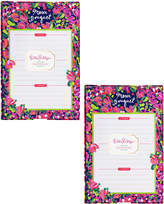 Lilly Pulitzer Wild Confetti Set Of 2 List Pads