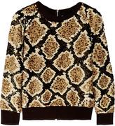 Ashish Sequined cotton-jersey sweatshirt