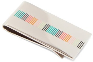 Paul Smith Striped Money Clip - Silver Multi
