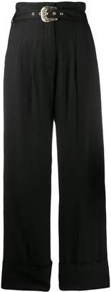 Just Cavalli belted palazzo trousers