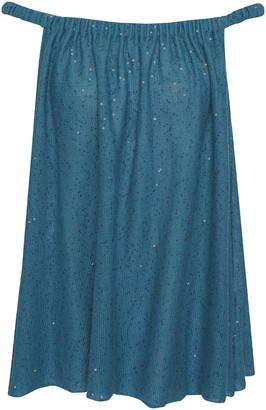 Brunello Cucinelli Off-the-shoulder Embellished Linen And Silk-blend Top