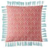 "Sky Ingrid Embroidered Foulard Decorative Pillow, 18"" x 18"" - 100% Exclusive"