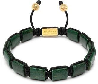 Nialaya Jewelry Gemstone-Embellished Beaded Bracelet
