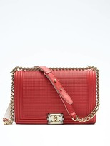 Banana Republic Luxe Finds Chanel Red Cube Boy Bag Medium